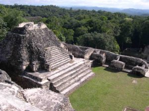 Photograph of Caracol ruins, Belize