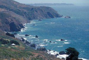 Photograph of landscape near Big Sur, CA