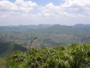 Photograph of mountains from summit of Pan de Guajabon, Cuba