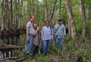 Photograph of friends in woods in FL