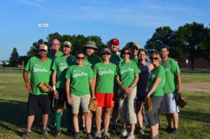 Photograph of softball team