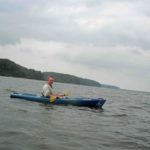 Photograph of Richard in kayak on Kentucky Lake