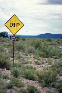Photograph of funny sign in NM