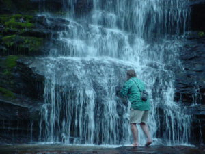 Photograph of Richard at Station Cove Falls, SC