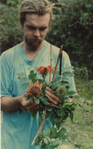 Photograph of Richard with Mutisia