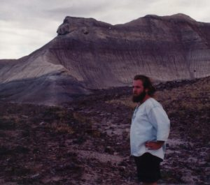 Photograph of Richard in Painted Desert